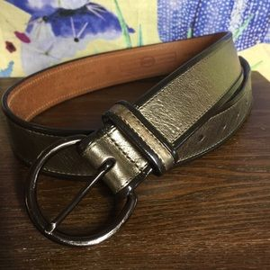 Fossil Leather Gold Belt